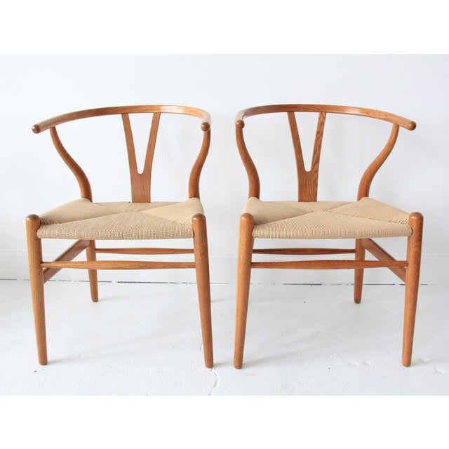 Vintage Hans Wegner Wishbone Chairs - Set of 4 - Image 2 of 10