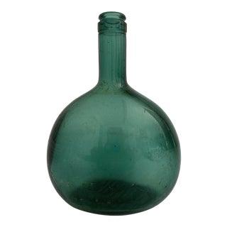Vintage Green Glass Bottle For Sale