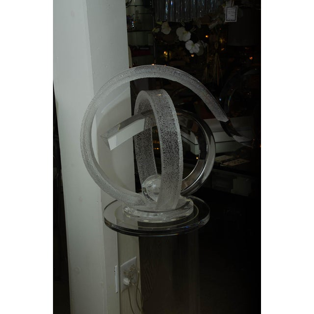 Abstract Signed Lucite Sculpture by Shlomi Haziza For Sale - Image 3 of 10