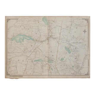 Vintage Map of Waccabuc, New York For Sale