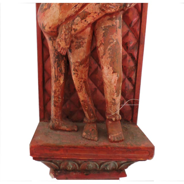 Asian Erotic Kama Sutra Wood Wall Carving For Sale - Image 3 of 5