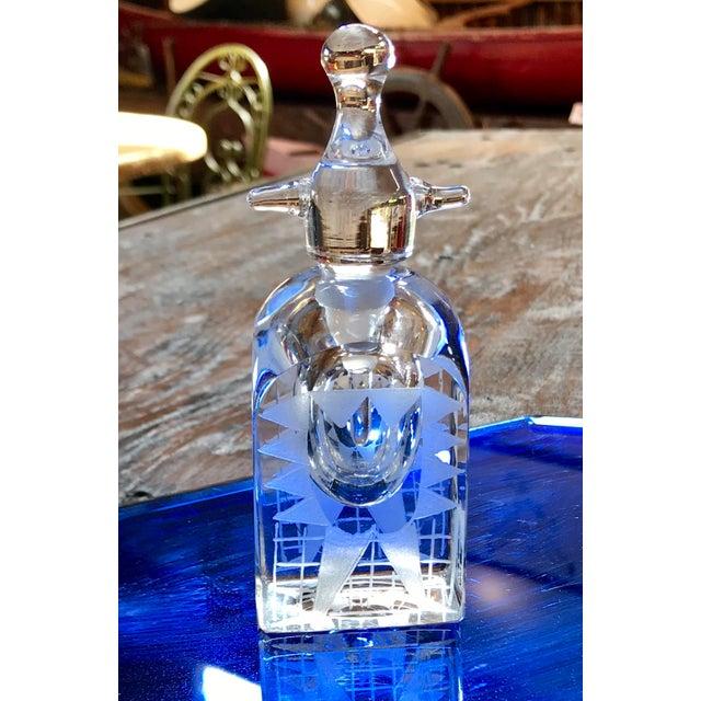 1960s Crystal Kosta Boda Perfume Bottle by Erik Hogland.