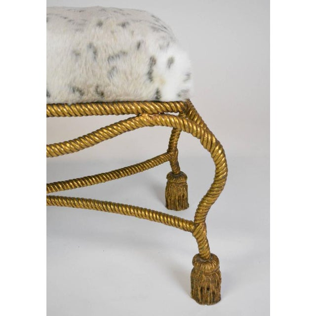 Early 20th Century Hollywood Regency Gilt Rope and Tassel Bench For Sale - Image 5 of 5