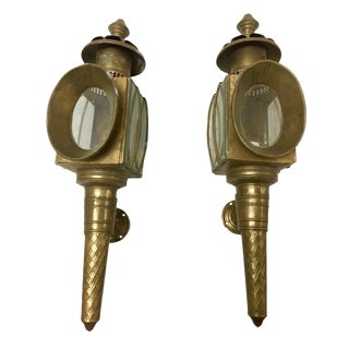 Early 20th Century American Coach Lamps Sconces - a Pair For Sale