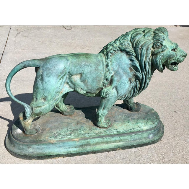 Paul-Edouard Delabrierre Bronze Lions - a Pair For Sale In Denver - Image 6 of 13