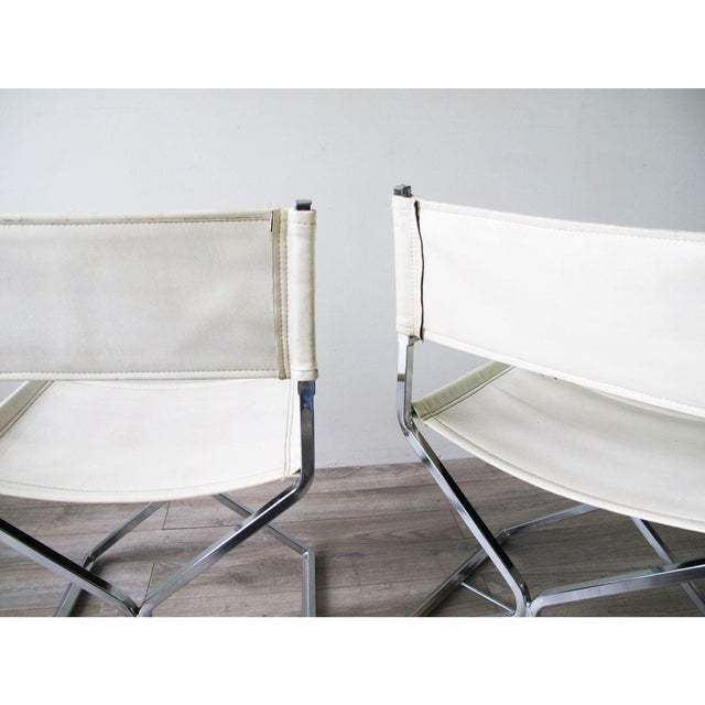 Chrome Director's Chairs - A Pair - Image 5 of 7
