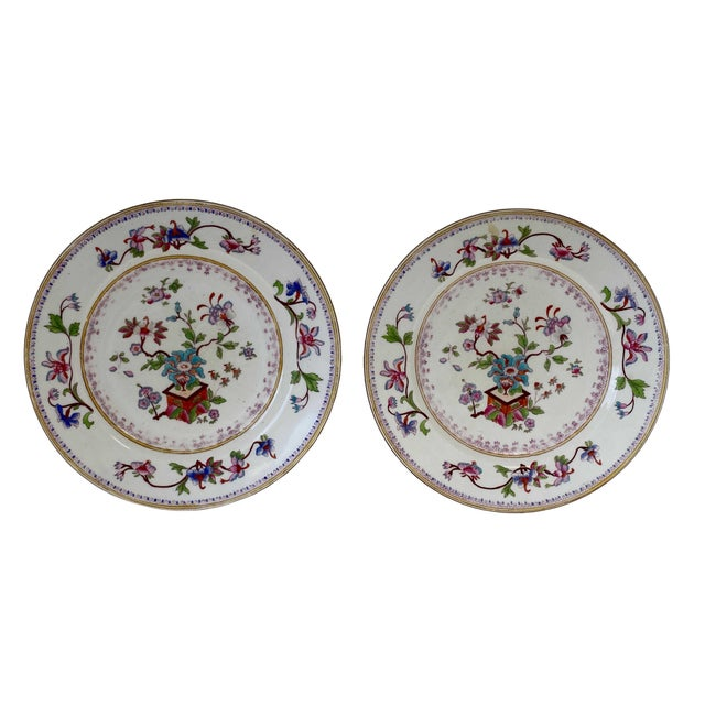 Ceramic Antique Chinese Plates - a Pair For Sale - Image 7 of 7