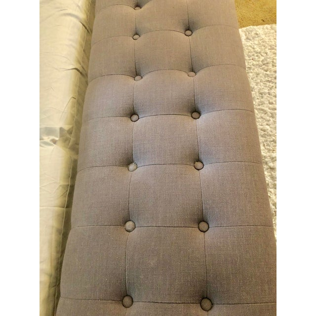 Paint Modern Upholstered Tufted Bench For Sale - Image 7 of 9