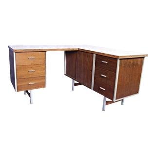 Knoll Mid-Century L Shaped Secretary Desk For Sale