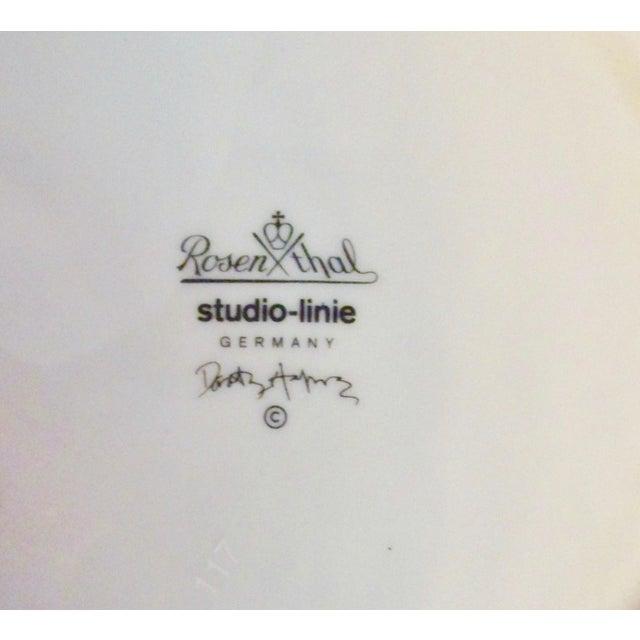 "Dorothy Hafner Rosenthal Studio Line ""Flash Love Story"" Three Sided Plate For Sale - Image 4 of 5"