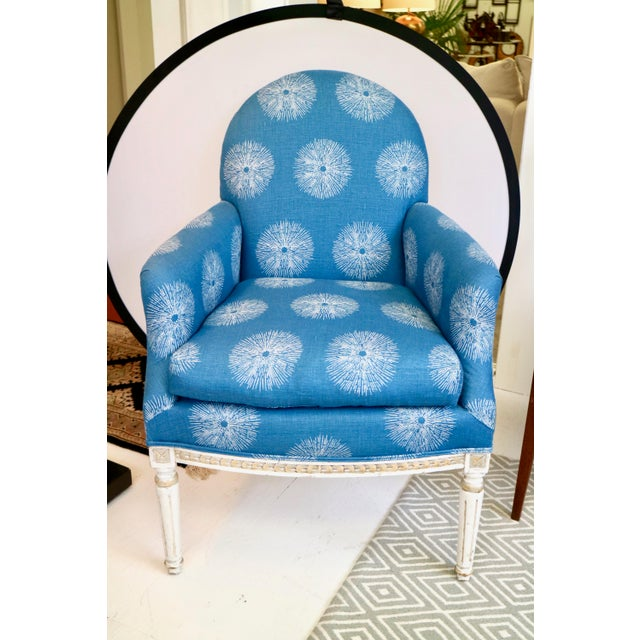 Pair of Blue French Chairs For Sale - Image 4 of 8