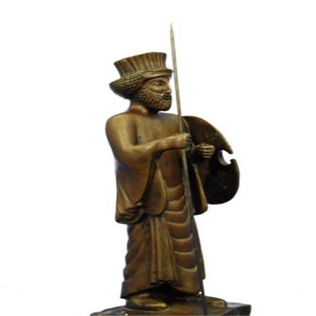 2000 - 2009 Cyrus the Great Persian King Kanaev Bronze Sculpture Marble Base Statue For Sale - Image 5 of 9
