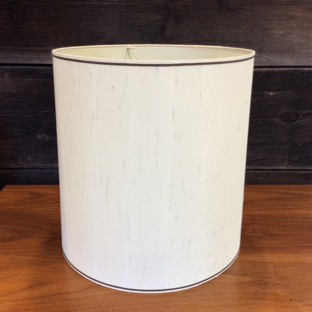 Vintage Striped Pottery Lamp - Image 7 of 8