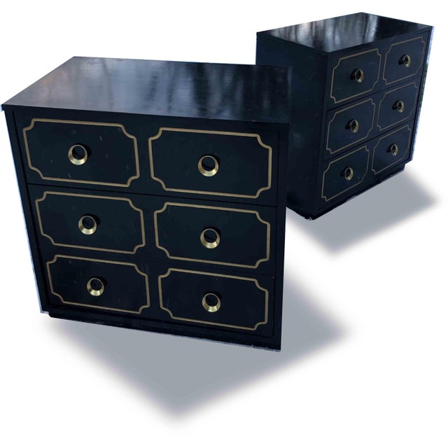 """1970s 1970s Hollywood Regency Dorothy Draper Style """"Espana"""" Bunching Chests - a Pair For Sale - Image 5 of 11"""