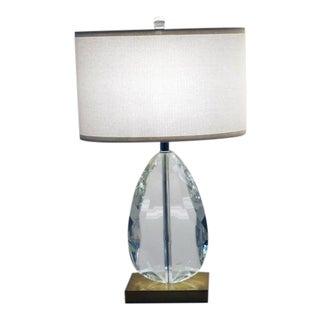 Cut Crystal Teardrop Table Lamp For Sale