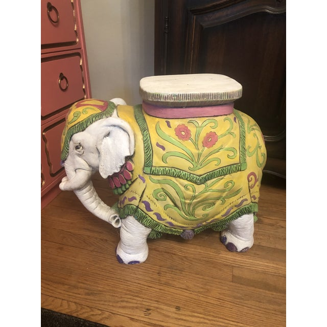 Asian 1960s Elephant Garden Stool For Sale - Image 3 of 12