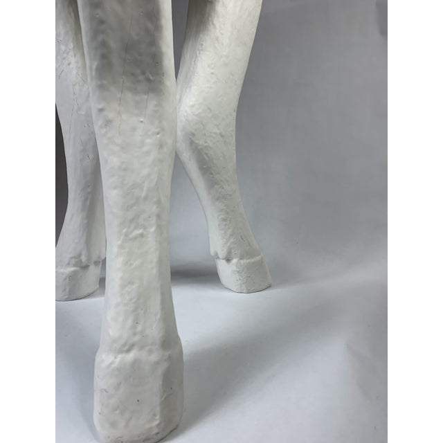 White 20th Century 3 Legged Hooves Side Table For Sale - Image 8 of 13