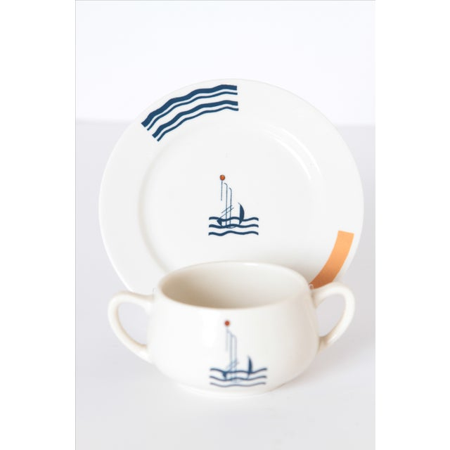Pair Signed S.S. Leviathan Two-Piece Matched Serveware, Eugene Schoen and Lee Schoen by OPCO Syracuse China For Sale - Image 10 of 11