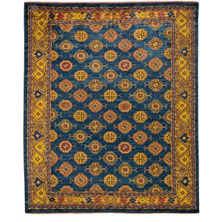 """Traditional Blue Hand-Knotted Rug- 8'3"""" x 9'6"""" For Sale"""
