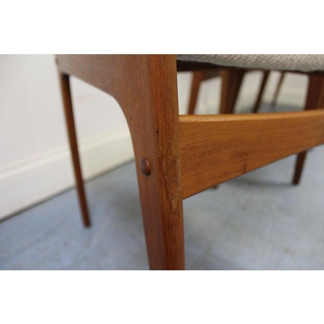 Brown Johannes Andersen Uldum Danish Modern Teak Dining Chairs - Set of 8 For Sale - Image 8 of 12