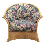 Image of Gabriella Crespi Pencil Reed Swirl Bamboo Chair For Sale