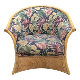 Gabriella Crespi Pencil Reed Swirl Bamboo Chair For Sale