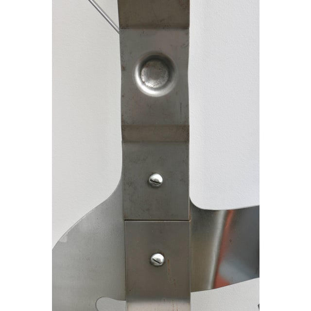 Industrial Curtis Jere Wall Mount Can Opener Sculpture in Stainless Steel For Sale - Image 3 of 11