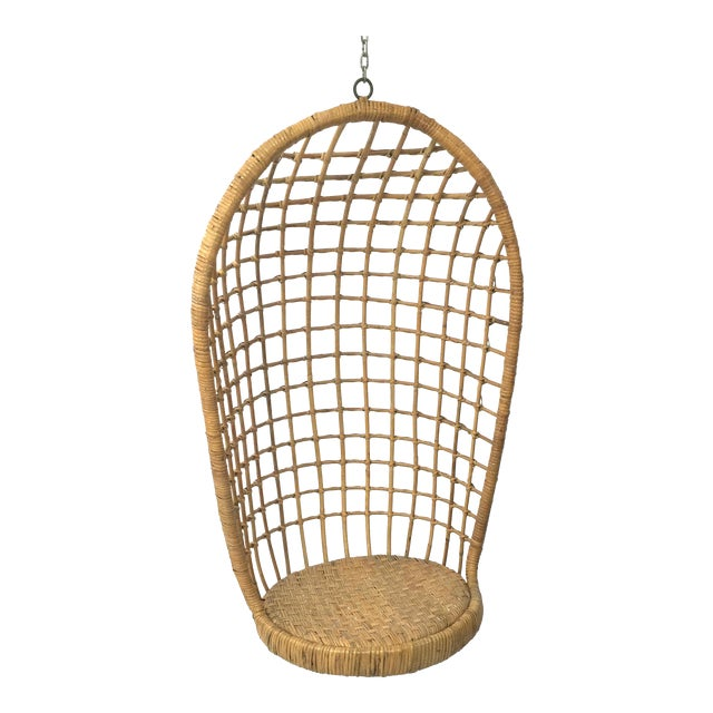 1960s Rohe Cane Hanging Chair For Sale