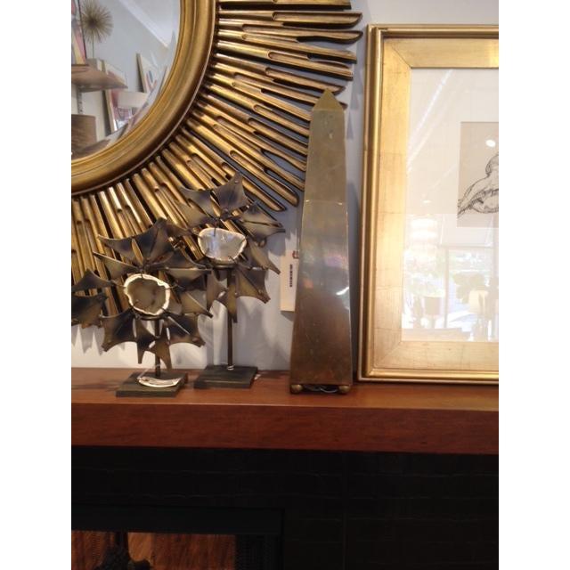 Vintage Large 1970's Brass Obelisk For Sale - Image 5 of 6
