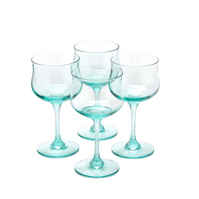 Lenox Pale Blue Blown Glass Champagne Stemware by Lenox, Set of 4 For Sale - Image 4 of 4