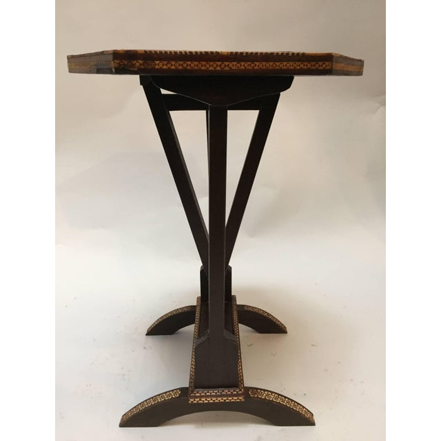 Mid 20th Century Egyptian Octagonal Side Tilt-Top Table For Sale - Image 5 of 10