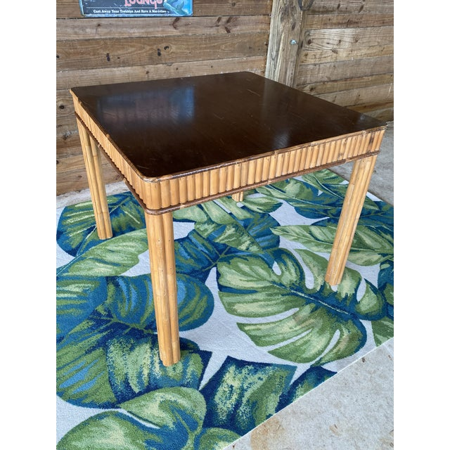 Vintage Split Bamboo Table For Sale - Image 11 of 13