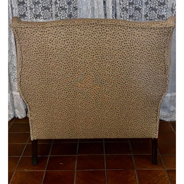 19th Century Antique Winged High-Back Settee For Sale In Philadelphia - Image 6 of 7