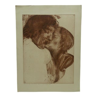 "Original Limited Edition Signed Artists Proof Print ""The Kiss"" by Ivan Valtchev"