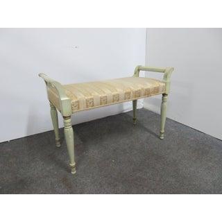 Regency Green Painted Vanity Bench Preview