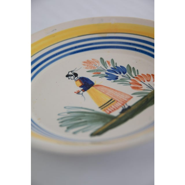 Antique French Quimper Plates - a Pair For Sale In Houston - Image 6 of 10