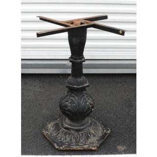 Antqiue Art Nouveau Ornate Cast Iron Table Base Preview