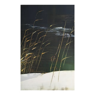 "Stephen Pentak ""Snow Bank on Elk Creek"" Water Nature Botanical Painting on Panel For Sale"
