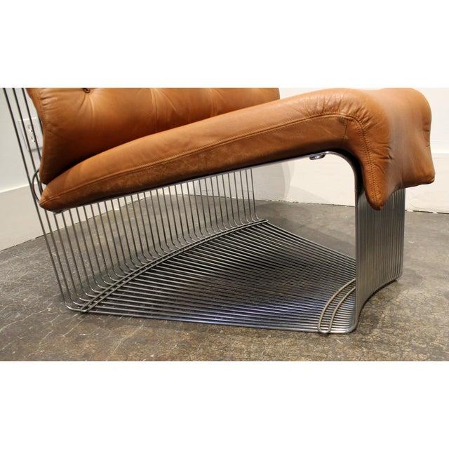 Verner Panton for Fritz Hansen Pantonova Leather Lounge Chair and Ottoman For Sale - Image 10 of 13