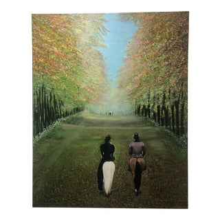 "Modern ""Fall Ride"" Acrylic on Canvas Painting by Tika Chano For Sale"