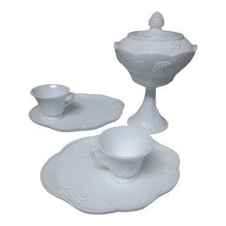 Vintage Milk Glass Set - Set of 6 For Sale