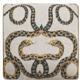 Image of Serpents Cashmere Pillow For Sale