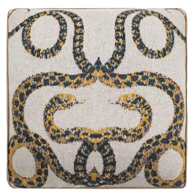 Serpents Cashmere Pillow For Sale