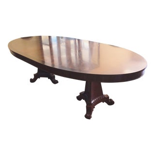 Henredon Furniture Osterley Manor Mahogany Dbl Pedestal Dining Table For Sale