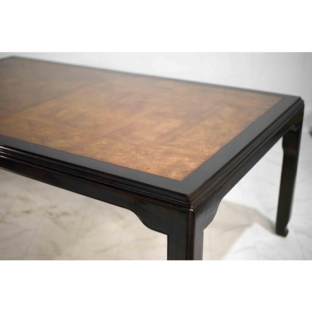 1970s Chinoiserie Burlwood Dining Table by Century Furniture For Sale - Image 11 of 12