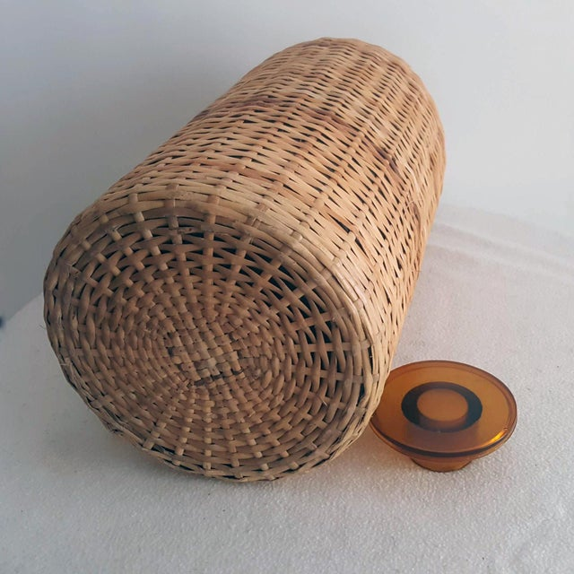 1960s 1960s Italian Ballard Cane and Jute Wrapped Demijohn Wine Cooler Decanter - Set of 3 For Sale - Image 5 of 13