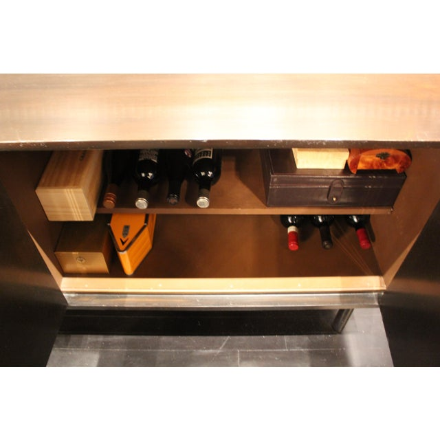 Mid-Century Asian-Style Hardware Mahogany Buffet For Sale In New York - Image 6 of 7