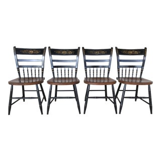L. Hitchcock Arrow Back Sheraton Side Chairs - Set of 4