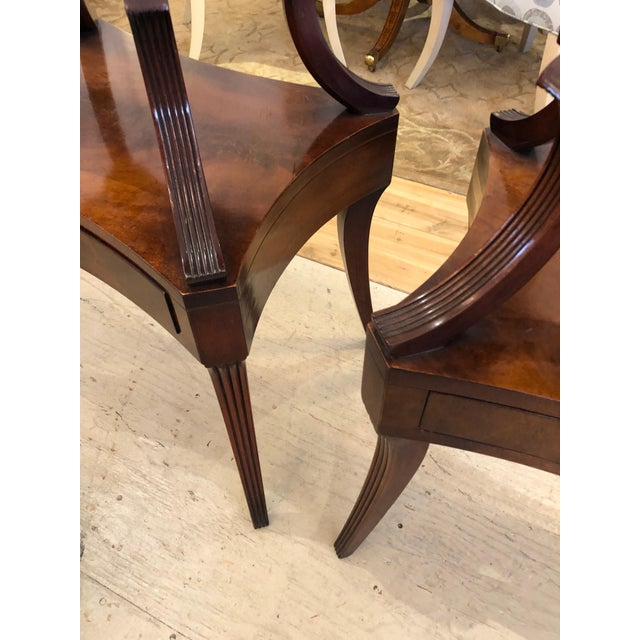1930s 1930s Traditional Grosfeld House Crotch Mahogany 2-Tier Nightstand - a Pair For Sale - Image 5 of 13