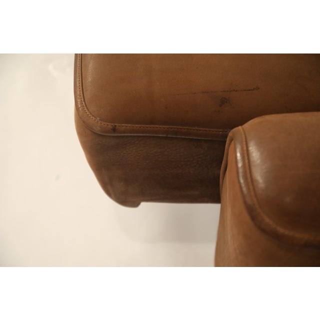De Sede Aged Buffalo Leather Ds-44 Adjustable Loveseat Sofa, 1970s For Sale - Image 11 of 13